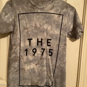 The 1975 shirt rectangle tie dye grey